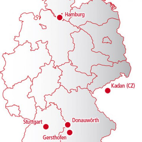 Locations for Andreas Schmid Logistik AG
